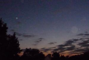Tiefer Himmel über Wolfsheim