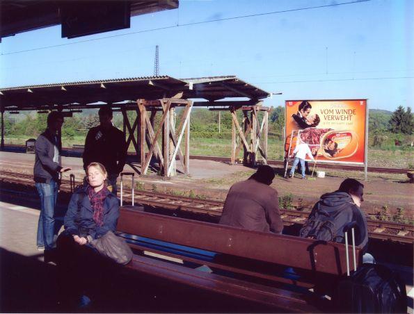 Windstille und Sonnenschein am Bahnhof von Naumburg © Christian Brachwitz