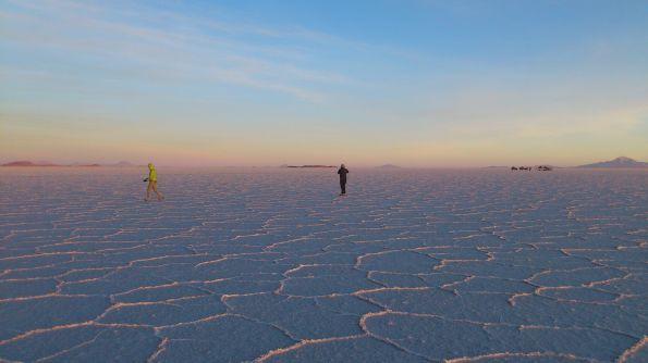 Junge, das ist Bolivien! Salar de Uyuni, der größte Salzsee, Salzsumpf, Salzwüste je nach Regenlage Fotos: Julia Thalheim