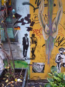 An die Wand geschrieben. Berlin Mitte, Rosenthaler Straße
