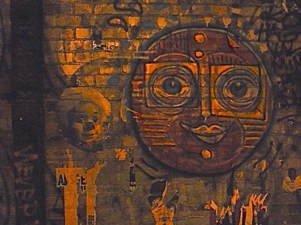 Street Art nach dem Kino Berlin Dircksenstraße