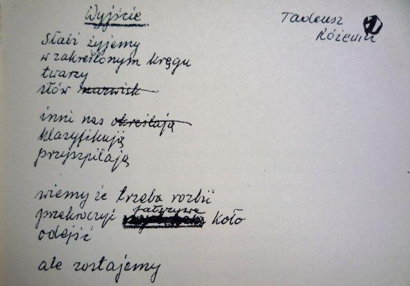 """Rózweicz. Die Handschrift. Aus """"Gesichter und Masken"""", Verlag Volk und Welt Berlin 1969"""