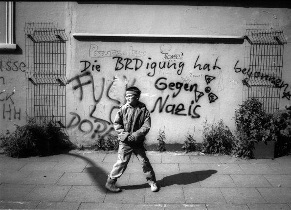 Bruce Lee im Blut. Hamburg 1989 © Christian Brachwitz