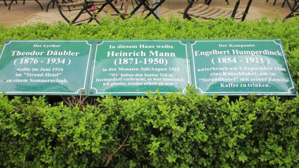 Prominenter, kommst du nach Heringsdorf, es wird nicht unbemerkt bleiben
