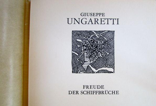 Ungaretti-Gedichte in einem Band der vormaligen Weißen Reihe des vormaligen Verlags Volk und Welt, Einbandentwurf Lothar Reher/Horst Hussel