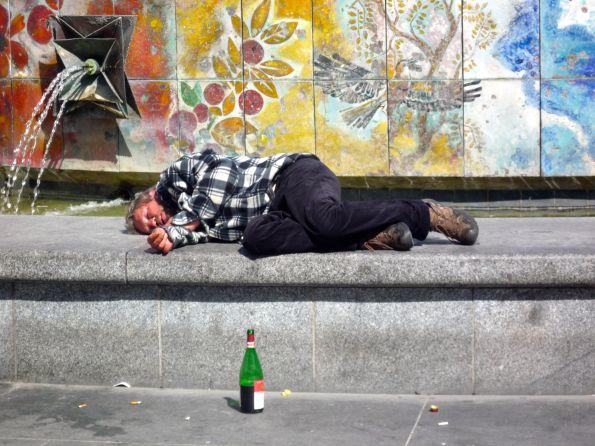 Erst die Öffentlichkeit und dann den Schlaf suchen © Fritz-Jochen Kopka