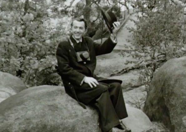 Herbert Roth, wahrscheinlich am Rennsteig